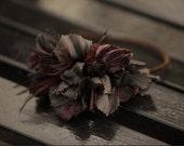 Velvet Flower Headband, Brown Velvet Headband, Winter Accessories, Mahogany Headband, Fashion Gifts, Holiday Fashion, Gifts Under 50