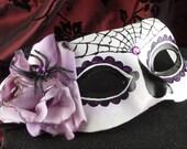 Silk Mask for Day of the Dead/Dia de los Muertos/Halloween/Costume/Masquerade