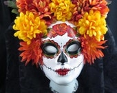 Ready to Ship- Autumn Harvest Mask for Day of the Dead/Dia de los Muertos/Halloween/Masquerade/Costume