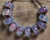 BULEBERRY HILL  BORO Lampwork beads 10
