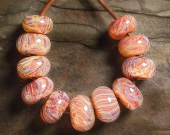 FIRE BUG BORO Lampwork beads 11