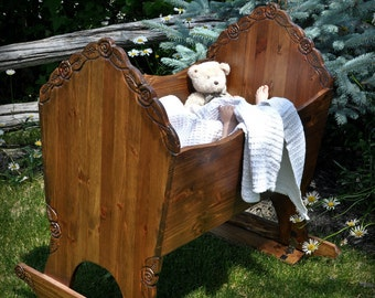 bed, crib, rocking cradle