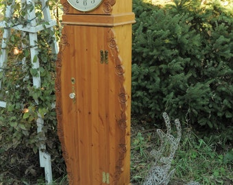 grandmother clock, grandfather clock, storage clock