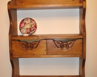 wall shelf, with two drawers for storage