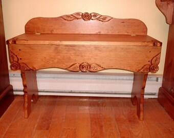 pine entry bench