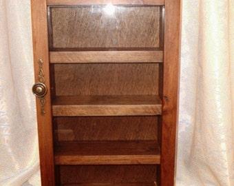 display cabinet, collectors cabinet, curio