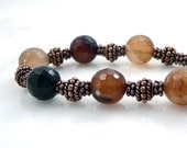 Bracelet - Copper, Amber, Chocolate, Gold, Earthtone, Rustic