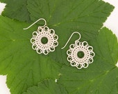 modern mandala - sterling silver chainmaille earrings