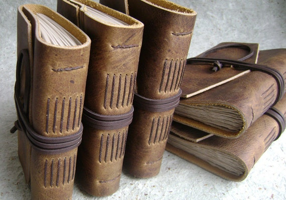 Leather Journals. Set of 6, Reserved for Mandy