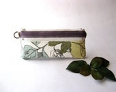 Christmas in July - SALE 20 Percent OFF - It was  24 USD -  The Epu Pouch in lavender/light purple with cream and butter floral fabric