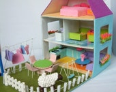 felt toy pattern-Felt Doll house,courtyard,furniture Bundle set-PDF via Email-T14,T15