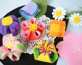 Felt food pattern-Japanese sweets--PDF Pattern via Email--F26
