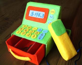 Felt toys pattern-Pos machine--PDF Pattern via Email-T17