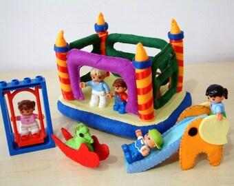 Felt toys pattern-Bounce house,slide,rocking horse--PDF Pattern via Email-T16