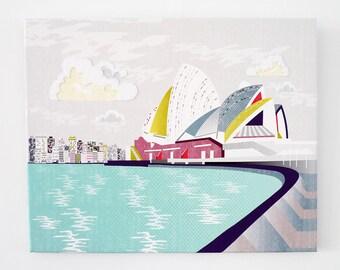 Sydney, Opera House Australia - Textiles Canvas Print