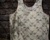 RESERVED for Katherine*** SALE Bee's Print Cotton Top Vest