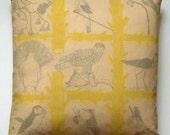 SALE*** Attenborough Cushion Pillow - Life of Birds
