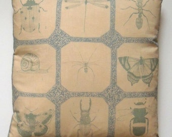 SALE*** Attenborough Cushion Pillow - Life in the Undergrowth Insects