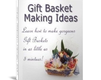 eBook 475 GIFT BASKET Making Ideas eBook Digital Delivery - Make Money at Home or Gifts