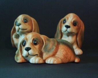Vintage Basset Hound Puppies..HOMCO