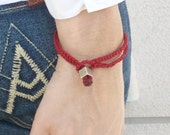 Red bracelets unisex luck jewelry mens kabbalah red string good energies cameo By Red Bracelet on Etsy