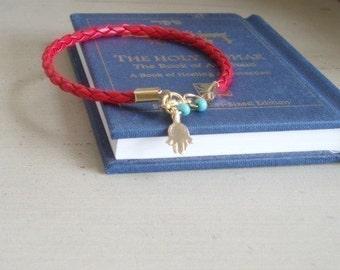 hamsa bracelet, Kabbala bracelet, evil eye bracelet, Red String bracelet, mens kabbalah, womens kabbalah