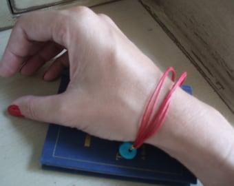 Five string red bracelet turquoise evil eye charm luck prosperity By RedBracelet on Etsy