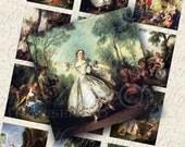 Romantic Era - 2x2 Inch Square Tiles Digital JPG Collage Sheet