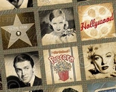 Once Upon A Movie / Hollywood / Actors / Vintage - 1x1 Inch Square Tiles Digital JPG Collage Sheet