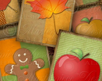 Harvest Festival / Fall / Autumn / Leaves / Pumpkin - Printable Gift Tags/Hang Tags Instant Download and Print Digital Sheet