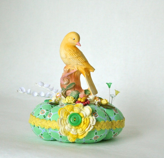Canary Pincushion 1/2 price