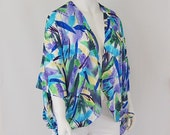 Brushstrokes in Blues Cascade Wrap and Shawl (and Jacket and Sarong and Belt and anything-else-you-can-think-of)