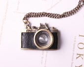 Antique Gold Camera Necklace