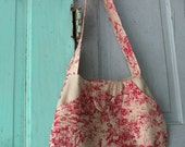 Vail Pockets Red Toile