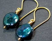 Love is in the Air // Teal Pearl Coins on Vermeil