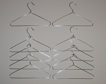 Doll Clothes Hanger Set of 10 - 7 inch - Wire