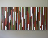 Striped Wall Art, Wood Wall Art, Abstract Painting, Lines, Stripes