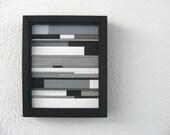 Modern Wood Sculpture 10x12 Framed
