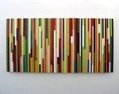 Acrylic Abstract Painting - Modern Wood Wall Art