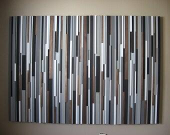 Wood Headboard, Furniture, Bedroom, Wood Sculpture Wall Art