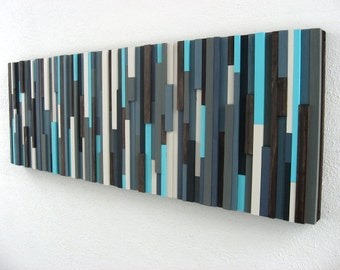 Wood Wall Sculpture, Wood Art, Wall Art, Wooden Artwork, Blue Art, Modern Wood Sculpture, Home Decor, Wall Decor, Abstract Art Blue