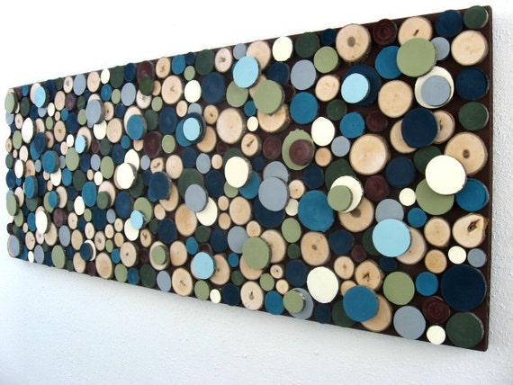 Wood Circles Wall Art -Maple Tree Branch Wood Slices