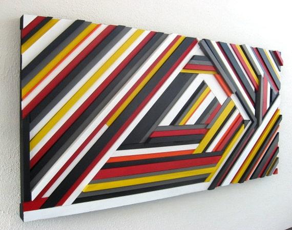 Geometric Wood Wall Sculpture - Wood Art - Abstract Art - Geometric Wall Art - Triangle Art
