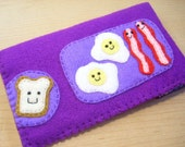 iphone case - ipod touch case - cell phone case - ipod case - It's Breakfast time case - Purple Version