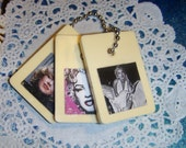 Pretty Pin Ups And More -- Upcycled Rummikub Tiles -- Set of 3 Marilyn Monroe Purse Charms --