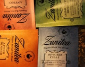 Six Organic Tea Blends for Gifts / Each Zanitea Loose Leaf Blend Makes 10 to 12 Cups