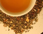 Digestion / Organic Herbal Tea with Ginger and Cinnamon / Zanitea Loose Leaf Blend Makes 10 to 12 Cups