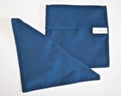 SALE - Navy Blue Reusable Sandwich Sack and Napkin Set