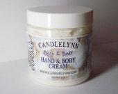 VANILLA CUPCAKE Whipped Hand & Body Cream - 4 oz - Dye Free