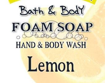 Foaming Hand Soap & Body Wash - LEMON Essential Oil - 5 oz